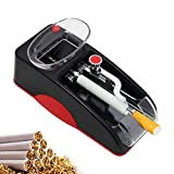 NEWTRY Cigarette Rolling Machine Electric Automatic Injector Mini Tobacco Roller Maker Cigarette Maker DIY Smoking Tool for Cigarette Making (Red)