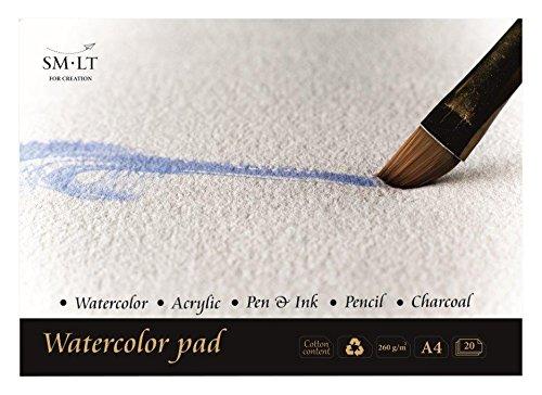 natural weiß Papier SMLT AB-35TS Authentic Line A4 Aquarellblock 280 gsm,...