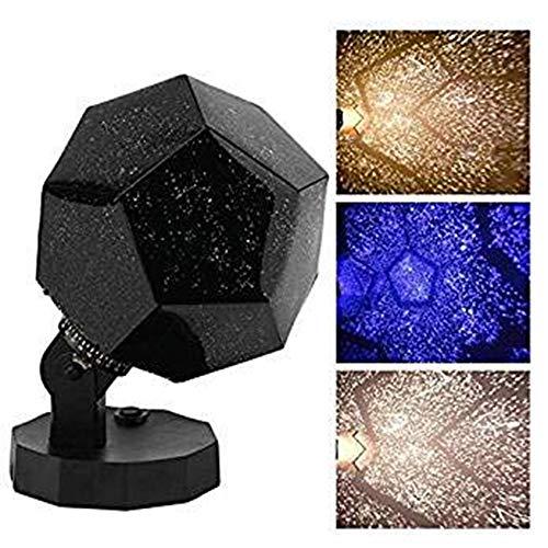 60,000 estrellas Original planetario casero Caronan Star lámpara noche romántico planetario estrella celestial proyector noche cielo para habitación decoración del hogar (Luz blanca)