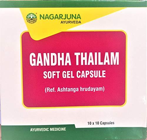 Ayupra Wellness Nagarjuna Gandha Thailam Soft Gel Capsule 10×10 with free pachak methi