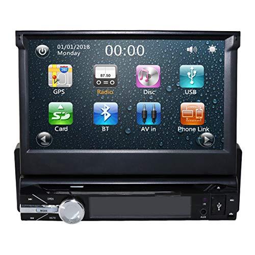 7 inch 1 Din Wince 6.0 Universal afneembare autoradio DVD-speler ondersteunt GPS-navigatie Bluetooth 4.0 stuurwielbesturing Radio Mirrorlink USB Een gratis SD-kaart