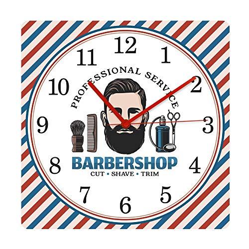 JXCDNB Barber Shop Barber Pole Modo silencioso Reloj de Pare