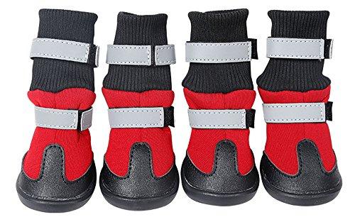 Morezi Chien Chaussures imperméable Bottes pour Chien antidérapant Bottes de Neige Chaud Paw Protector pour Chien en Hiver