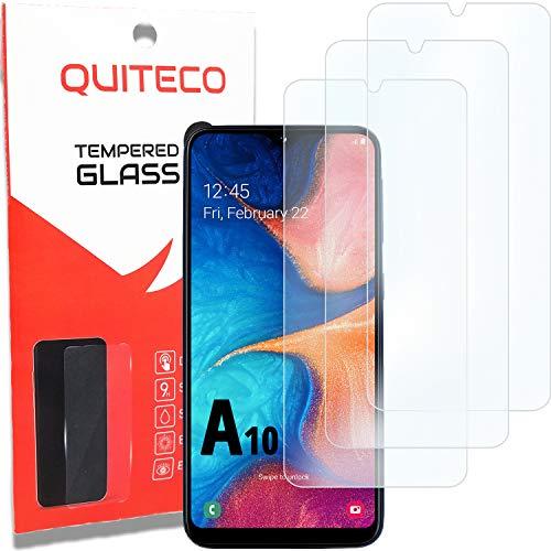 3 Pezzi, Vetro Temperato Compatibile con Samsung A10, Pellicola Prottetiva Anti Graffio, Anti-Impronte, Durezza 9H, 0,26mm Ultra Trasparente, Ultra Resistente