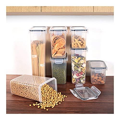 MDZZ Recipientes de Almacenamiento de Cereales Botes Cocina Alimentos Se Mantiene Fresco Almacenar Cereales, Avena, Pasta, Galletas, Etc contenedores de Alimentos Cocina