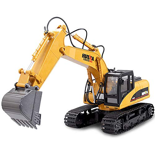 GKLHC Vehículo de construcción RC Tractor 15 Canales Hobby Excavadora de Control Remoto 1:14 Excavadora Grande Cuerpo de aleación Antiimpacto Anti-caída Control Remoto Coche Camión Todoterreno