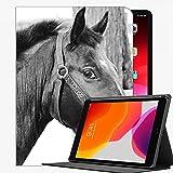 Per Mini iPad 1 2 3 Case (Vecchio modello A1432 A1490 1455), Cavallo Muzzle Briglia occhi Neri cassa sottile copertura di Shell per iPad Mini 7.9 pollici