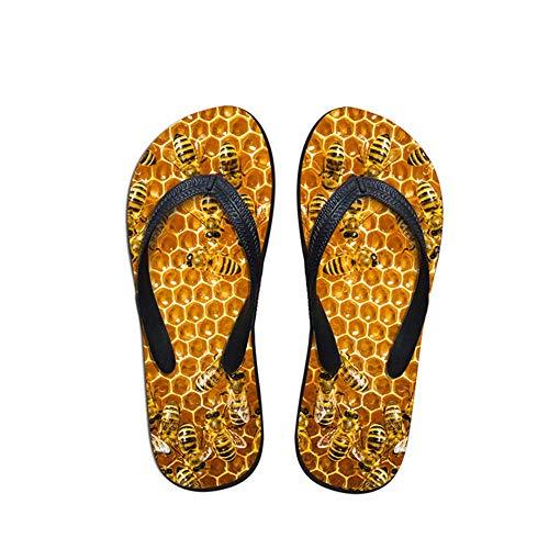 Zuyau Sandales Homme Tongs Homme Mules Mens Summer Casual Sandals Pantoufles Animal 3D Tongs en Caoutchouc imprimé pour Chaussures de Plage résistantes à l'usure Appartements 8