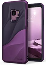 Ringke Wave Compatible with Galaxy S9 Case Dual Layer Heavy Duty 3D Textured Shock Absorbent PC TPU Full Body Drop Resistant Protection Cover for Galaxy S 9 (2018) - Metallic Purple