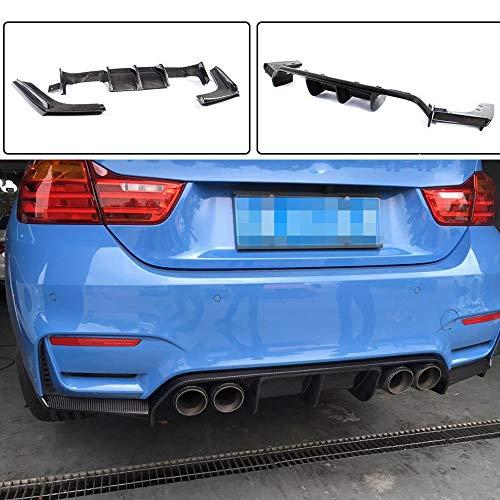 JCSPORTLINE Für F80 M3 Limousine / F82 M4 Coupe / F83 M4 Convertible 2014-2018 Echt Carbon Faser Kohlefaser Tuning Heckdiffusor Hinten Lip Diffusor
