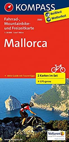 Mallorca: Fahrrad-, Mountainbike- und Freizeitkarte mit Führer. GPS-genau. 1:70000 (KOMPASS-Fahrradkarten International, Band 3500)