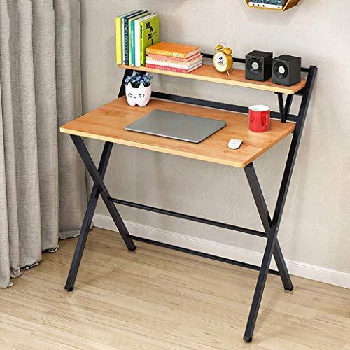 Life Equipment Mesa plegable Escritorio para computadora Oficina en casa Estación de trabajo para computadora portátil Mesa de estudio para niños con estante de almacenamiento Mesa pequeña multifun
