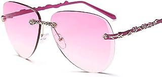 Trend Frameless Sunglasses Elegant Women Sunglasses Fashion Sunglasses (Color : Pink, Size : Free)