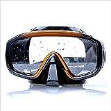 Gafas de buceo Gafas de natación for los hombres Impacto visores for los ojos resistente buceo vidrio templado y anti-niebla de la lente de los vidrios Scuba Snorkel Set gafas de natación for Hombres