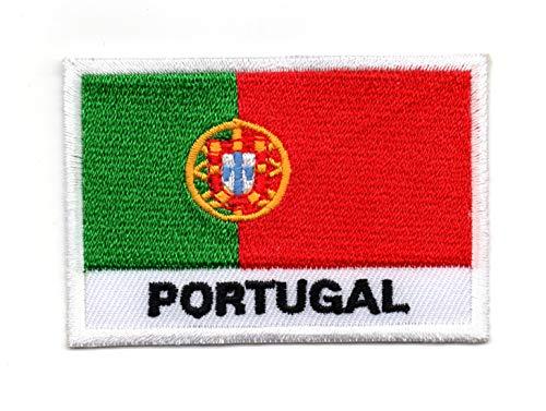 Vlag van Portugal (Portugees: Bandeira de Portugal) IJzer op patch Naai op Geborduurde Badge toegepast