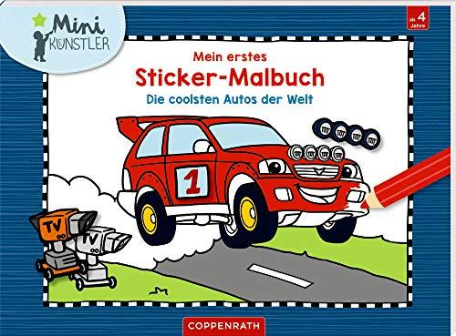 Mein erstes Sticker-Malbuch: Die coolsten Autos der Welt (Mini-Künstler)