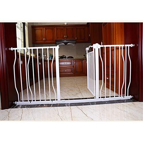 HONGNA Erweiterbare Babys Tore for Treppen Zaun Haustier Zaun Pol Baby-Tor-Wand-Schutz-freien Stanzen Selbstschluss (Color : High77cm, Size : 107-117cm)