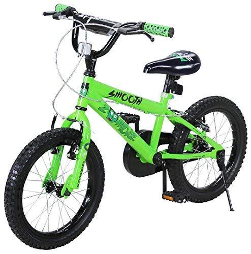 Actionbikes Kinderfahrrad Zombie - 16 Zoll - V-Break Bremse vorne - Stützräder - Luftbereifung - Ab 4-7 Jahren - Jungen & Mädchen - Kinder Fahrrad - Laufrad - BMX - Kinderrad (16`Zoll)