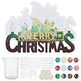 OLYCRAFT 29 Pieza Navidad Molde de Silicona de Resina ¡Feliz Navidad Cartas Molde Tema de...