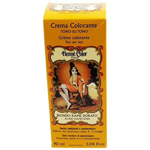 SITARAMA Tinte Vegetal Crema con Henna - Rubio Rojizo - Sin peróxido ni amoniaco - Sin colorantes sintéticos - Vegan