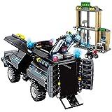 TRCS City Policía juguete de construcción de 549 piezas Wrecker coche con armas y minifigura para policía SWAT compatible con Lego 60139