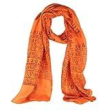 Uyuni Pañuelo unisex con simbolos hindues (naranja)