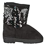 bebe Girls' Big Kid Slip On Tall Microsuede Winter Boots with Rhinestone Logo Embellishment and Faux Fur Trims Tan Size 4