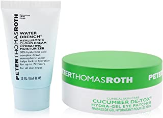 Peter Thomas Roth Drench and De-Tox Kit For Unisex 0.67ozWater Drench Hyaluronic Cloud Cream, 15 Pairs Cucumber Detox Hydr...