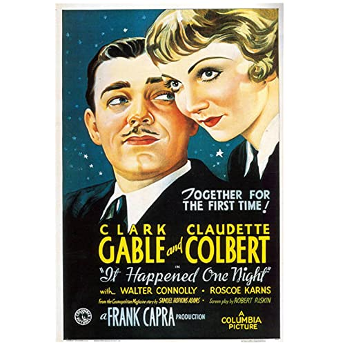 或る夜の出来事の古典的な映画のポスター布の布は装飾的な壁のポスターを印刷します60x90cmx1フレームなし