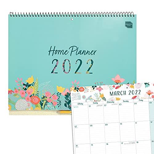 (en inglés) Planificador mensual de Boxclever Press. Calendario 2022 pared comienza ahora y se extiende hasta diciembre'22. Amplio calendario pared 2022 con pestañas mensuales y listas.