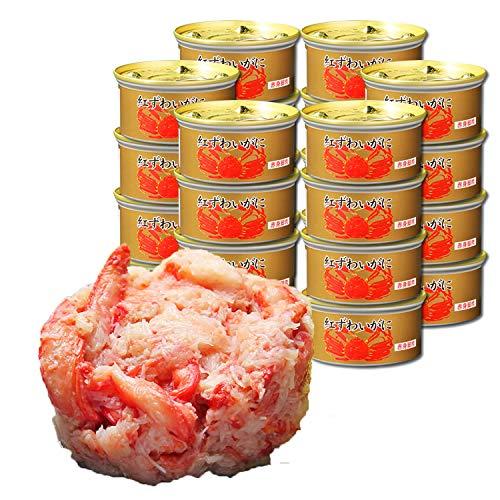 マルヤ水産 紅ずわいがに 赤身脚肉 缶詰 (75g) (24缶入)