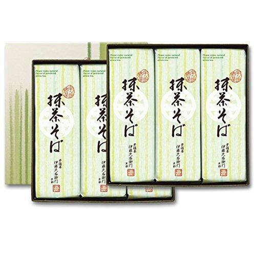 伊藤久右衛門 宇治抹茶そば プレゼント 乾麺 2人前×15袋 箱入り 蕎麦200g×15袋 S-5