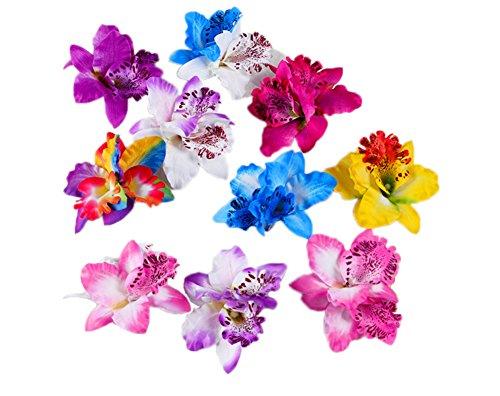 Hustar Lot de 10 épingles à cheveux Orchidée Style hawaïen
