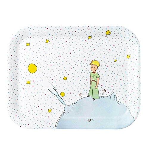 Petit Jour Paris Le Petit Prince Plateau avec étoiles en mélamine 33,5 cm - Soucoupe en plastique sans BPA