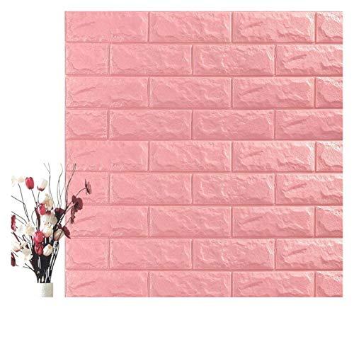 WHYBH HYCSP Self Adhesive Wasserdicht Hintergrund Brick Tapeten-Wand-Aufkleber Wohnzimmer Tapeten Wandbild Schlafzimmer Dekorative (Color : Princess Pink, Size : 70cm x7cm)