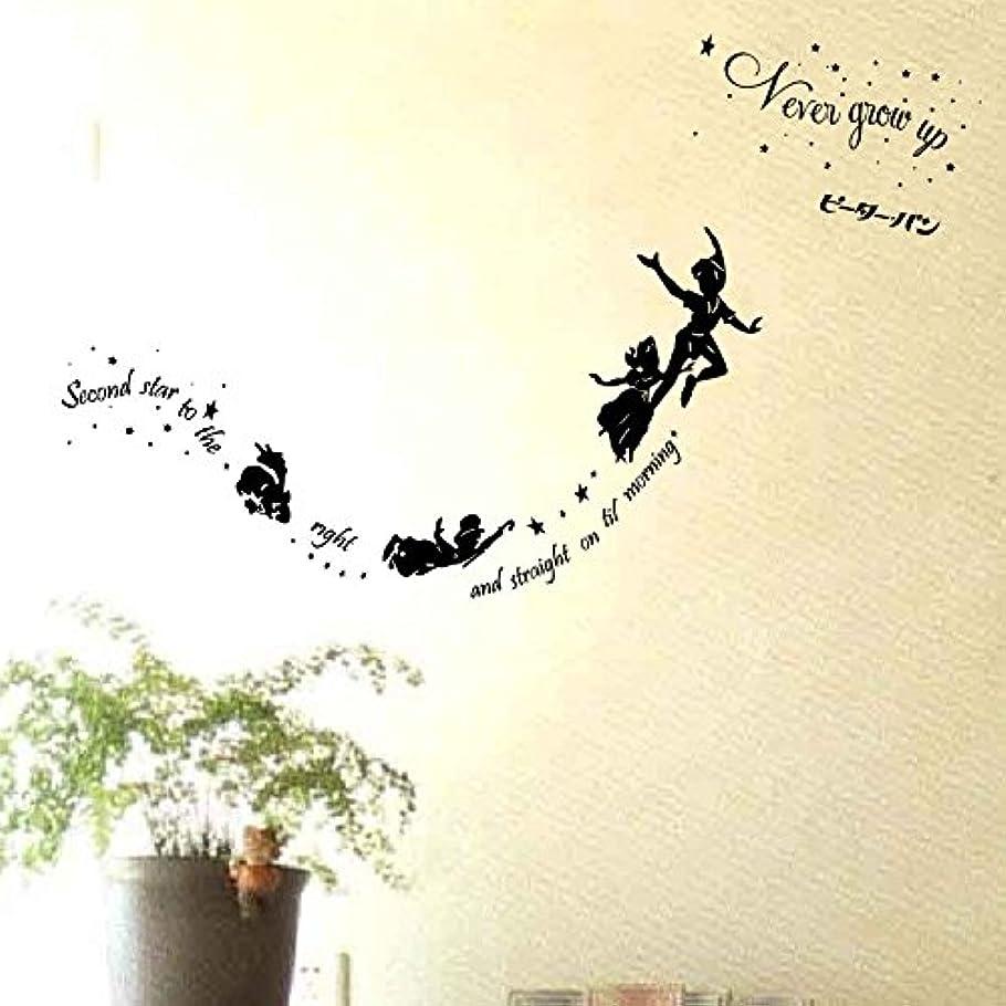 前文ダイエットロケーション「425」ウォールステッカー ピーターパン wallstickers 転写式 Peter Pan ディズニーランド (転写式貼り方解説書付)