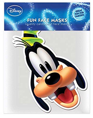 empireposter Mickey Mouse - Goofy - Papp Maske, aus hochwertigem Glanzkarton mit Augenlöchern, Gummiband - Grösse ca. 30x20 cm