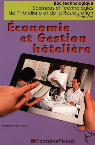 Economie et gestion hôtelière 1re STHR