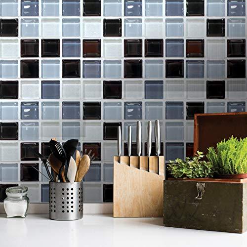 CUTULAMO Etiqueta engomada del Mosaico, Etiqueta engomada de la Pared del Mosaico 6Pcs Etiqueta de la Pared para la decoración del baño de la Cocina del hogar para la decoración de la Sala de Estar