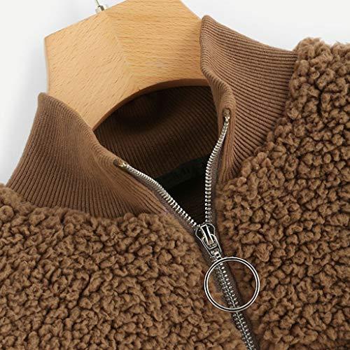 Longra dames-ssweatshirt, korte sweatshirt, herfst, bovendeel, basic, lange mouwen, modieus, ronde hals, casual, blouse, ritssluiting, truien, eenkleurig, jumper tops