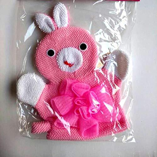 Heng Schattige kinderen Baby shower badhanddoek Dieren Stijl Douche Wasdoek Handdoeken, Roze konijn