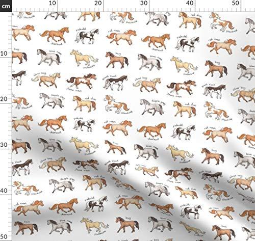 Pferd, Pony, Tier Stoffe - Individuell Bedruckt von Spoonflower - Design von Hazelfishercreations Gedruckt auf Samt