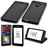 Fit GreatCall Jitterbug Smart 2 Wallet, Phonelicious PU Leather Case Premium Pouch ID Credit Card Phone Cover Flip Folio Book Style with Money Slot + Pen (Black Fold)