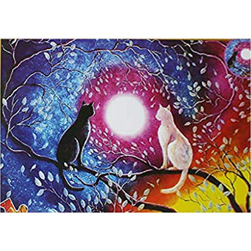Black White Cats Jigsaw Puzzle for Adults Kids 1500 Pieces Parent-Child Assembly Jigsaw Puzzle Best Choice for Home Games DIY Interesting Game Toys Challenging,Family Fun Indoor Activity