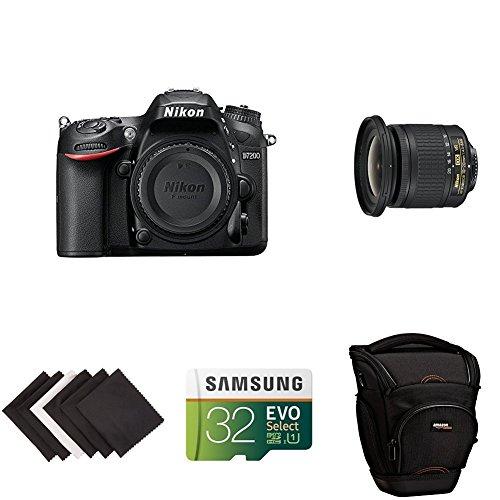 Nikon D7200 DX-format DSLR Body (Black) Travel and Landscape Lens Kit...