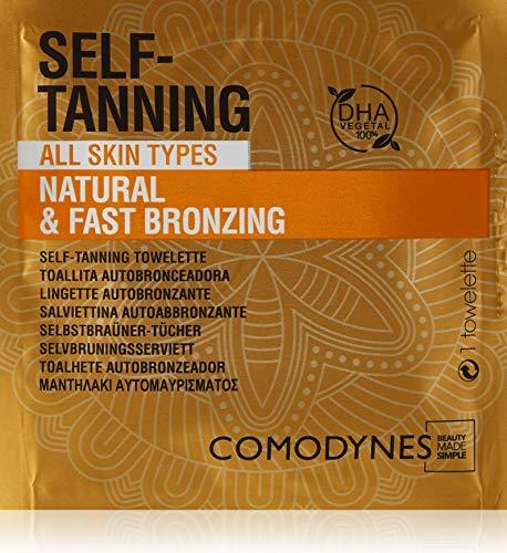 Comodynes - Toallitas Autobronceadoras Natural - Para todo tipo de pieles, DHA 100% Natural - 8 Unidades