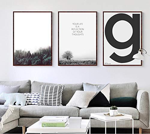 Zszy Canvas voor muurkunst in paard-stijl, schilderij op canvas, posters en drukken, foto-kunst voor de woonkamer, letter uniek, huisdecoratie, 50 x 70 x 3 stuks, zonder lijst