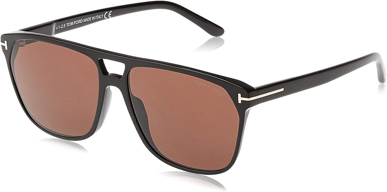 Tom Ford FT0679 01E Shiny Black Shelton Square Sunglasses Lens Category 3 Size, 59mm