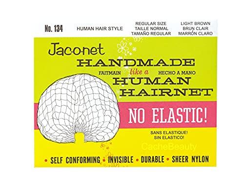 Jac-O-Net No Elastic Hair Net Regular Light Brown Light Brown