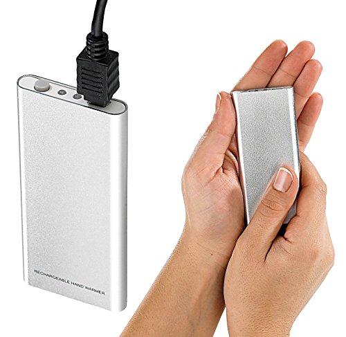 infactory Taschenwärmer elektrisch: Aufladbarer Handwärmer mit USB-Ladefunktion (Akku Handwärmer)